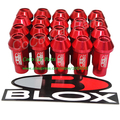 Blox Wheel Nut Red Color Wheel Locking Nut M12XP1.5 Open Ended Aluminum Racing Car Lug Nut 20pcs/set