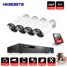 4CH 1080P Network POE NVR Kit CCTV Security System 2.0MP IP Camera indoor Outdoor IR Night Surveillance Camera System 2TB HDD