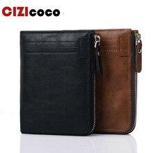 New Men Wallets PU Leather Short Coin Purse Small Wallet Men Purse Zipper Coin Pocket High Quality Card Holder