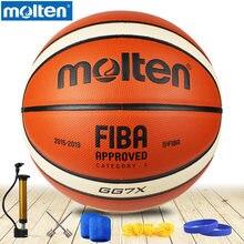 оригинальный расплавленный баскетбольный мяч GG7X новый бренд высокое качество подлинная расплавленный PU Материал Официальный Size7 Баскетбол