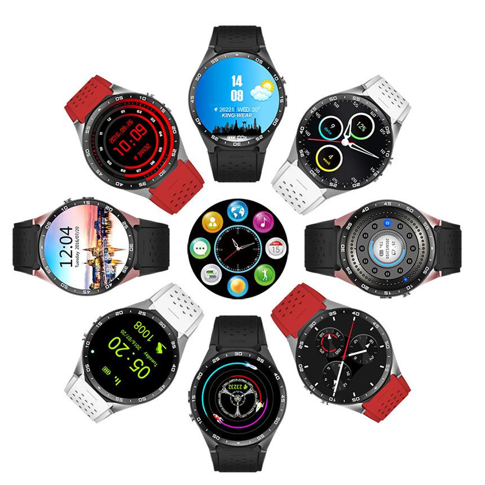 2017 Hot Kw88 android 5 1 OS Smart watch 1 39 inch 400 400 font b