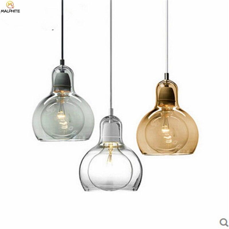 Nordic LED Glass Pendant Light Cofe Restaurant Hanglamp Pendant Lamp Luminaria Fixtures Living Room Hanging Lighting Luminaire