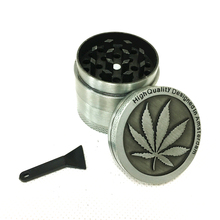 Grinder 40mm 50mm 4levels Zinc Alloy High Quality Herb Tobacco Smoke Crusher  for Hookah Shisha Water Pipe Drop Shipping