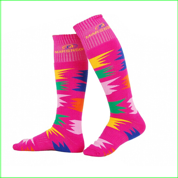 SKKO4C Childrens Warm winter skiing socks knee-length ski socks skiing sport long socks thick warm skiing socks free shipping