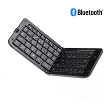 Universal Wireless Folding Foldable Bluetooth Keyboard with Mobile Stand for iPhone iPad, Android phone, Windows Phone PC Laptop(China)