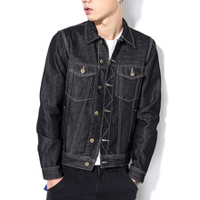 2017 New Spring Men Denim Jacket Autumn Fashion Casual Slim Jean Jacket Coat Large Size Male Clothing M-6XL Asian Size