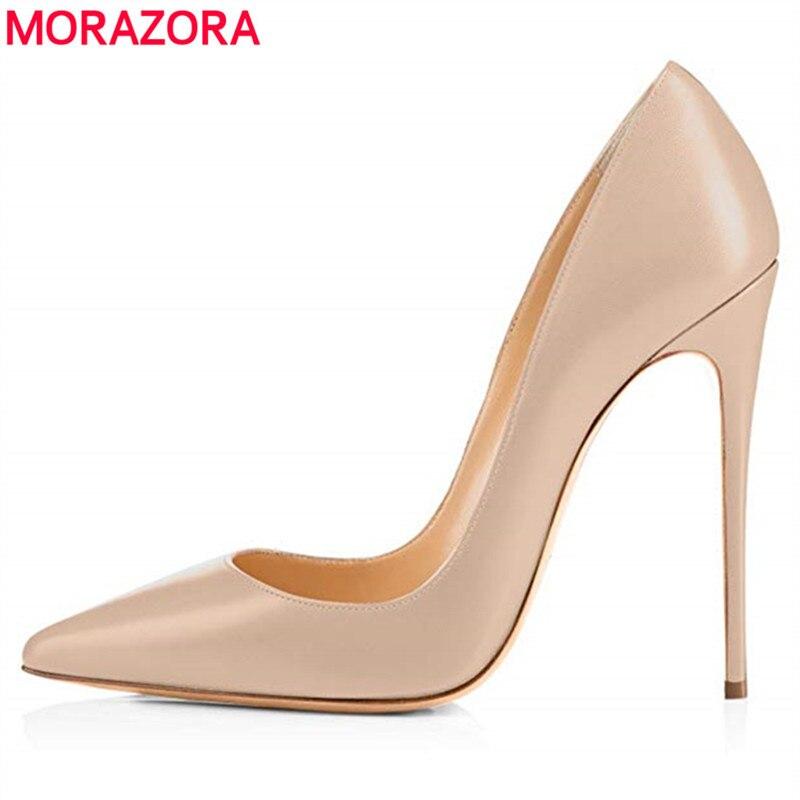 MORAZORA Size 35 45 New fashion sexy stiletto high heels women pumps nude color spring summer