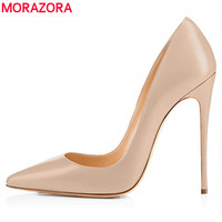 MORAZORA Size 35 45 New fashion sexy stiletto high heels women pumps nude color spring summer fashion ladies party wedding shoes