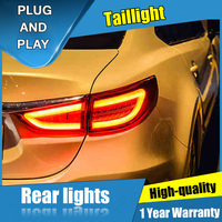 4PCS Car Styling for MAZDA 6 Taillghts 2014 2015 for 6 LED Tail Lamp+Turn Signal+Brake+Reverse LED light