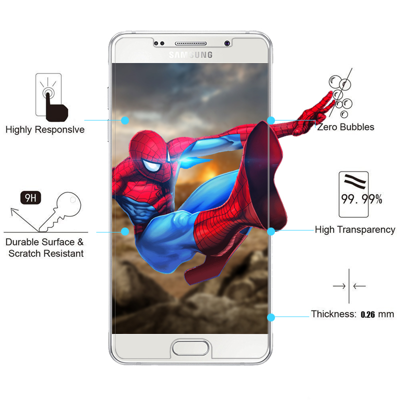 9H 0.3mm Tempered Glass for Samsung Galaxy A3 A5 A7 2017 Screen Protector Film For Samsung Galaxy J1 J2 J3 J5 J7 2016 Prime Mini