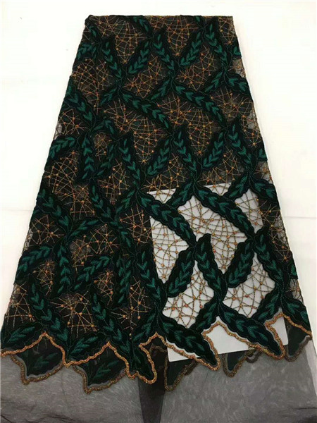 High Quality Latest Nigerian Lace Fabrics Mesh African Lace Fabric Guipure Velvet French Net Lace Fabric