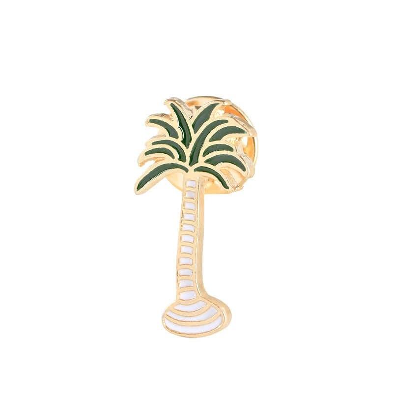 Indah Lencana Tanaman Pot Kerah Sepatu Bibir Enamel Bros Kelapa Pohon Kaktus Daun Dekoratif Pakaian Kartun Pin Lencana