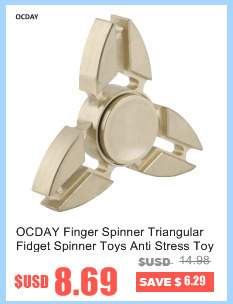 OCDAY Fidget Finger Spinner 5 Colors Triangle Reduce Stress Toy Plastic utism And ADHD Rotation For Kids/Adult New Hand Spinner
