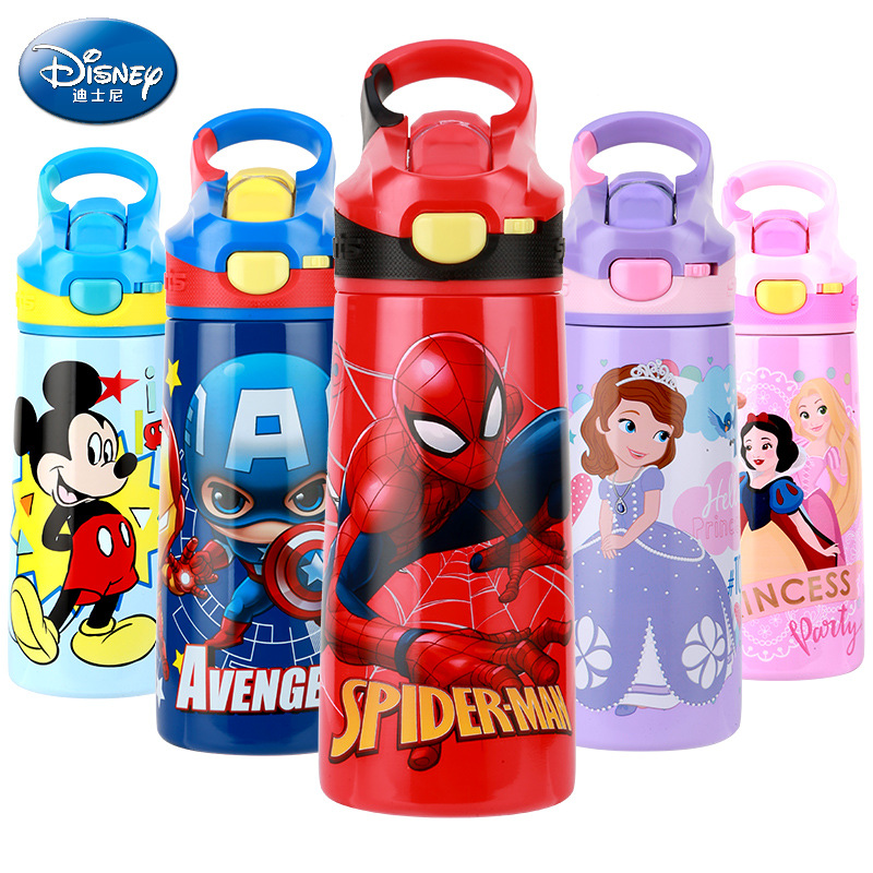 500ML Kids Thermos Feeding Bottle Vacuum Flask Insulation Feeding Bottle My Bottles Leak-<font><b>poof</b></font> Student Thermos Cup Car Kettle image