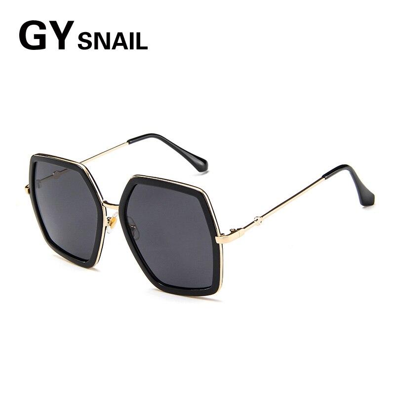 GYsnal Retro Square Sunglasses Women Men metal mirror Sunglass for Female Vintage big fram Sun Glasses UV400 Shades Oculos Gafas