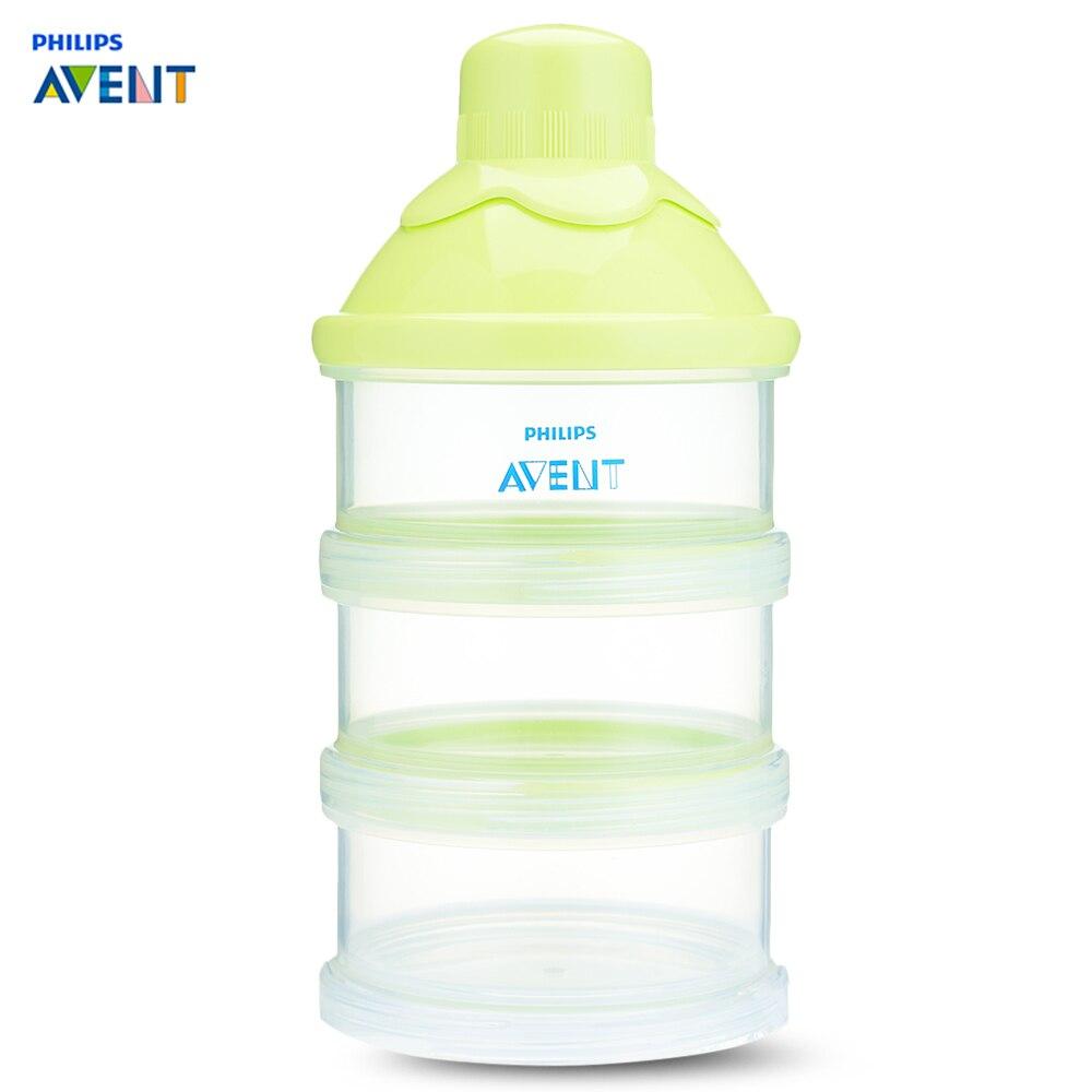 Flaschenzuführung Philips Avent Tragbare Milch Pulver Formel Bpa Frei Pp Material 240 Ml Spender 3 Schraube-auf Container Baby Infant Fütterung Box