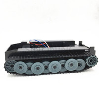 Gospodarka 1:32 2WD Niemiecki Tiger tank podwozie Robota ZESTAW arduino Raspberry Pi DIY