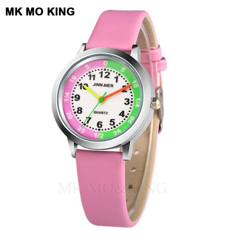 Luxury Cute Cartoon Digital Color Waterproof Sport Football Children's Boys Girls Kids Quartz Wrist Watch Clock Gifts Bracelet
