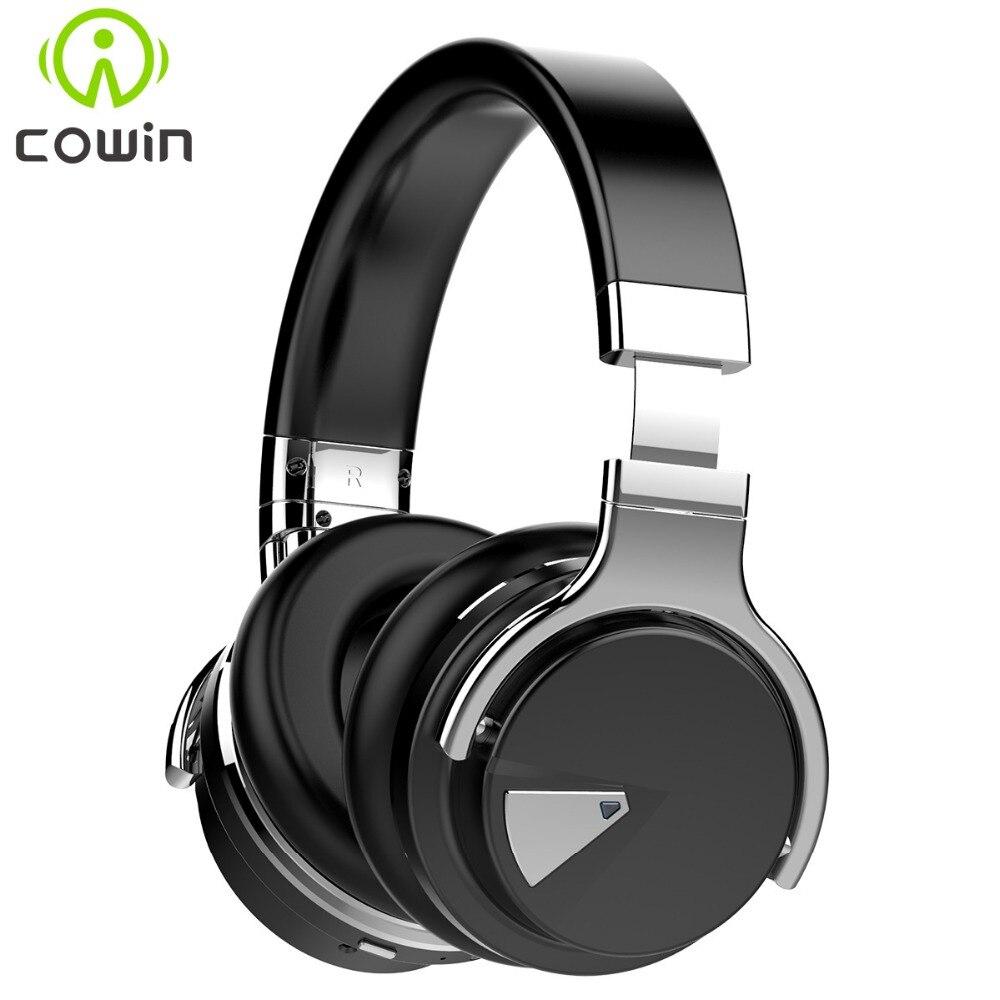 D'origine Cowin E7 ANC Actif Antibruit Sans Fil Bluetooth Casque Sur L'oreille Casque sans fil avec microphone pour les téléphones