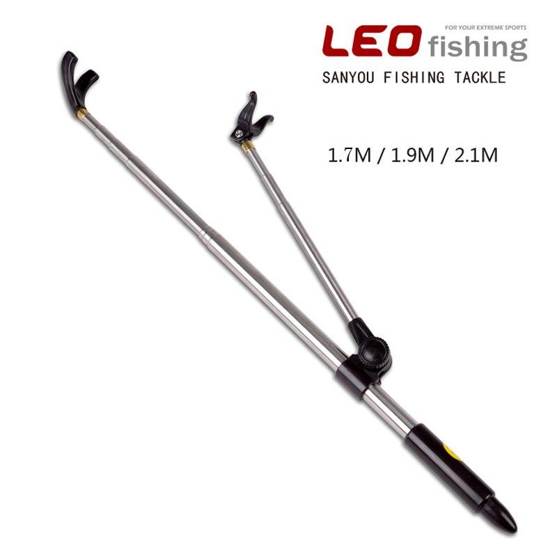 Inoxidável steel1.7/1.9/2.1 m telescópica vara de pesca caixa de pesca cadeira de pesca suporte de suporte de plataforma dedicada haste posicionamento rac