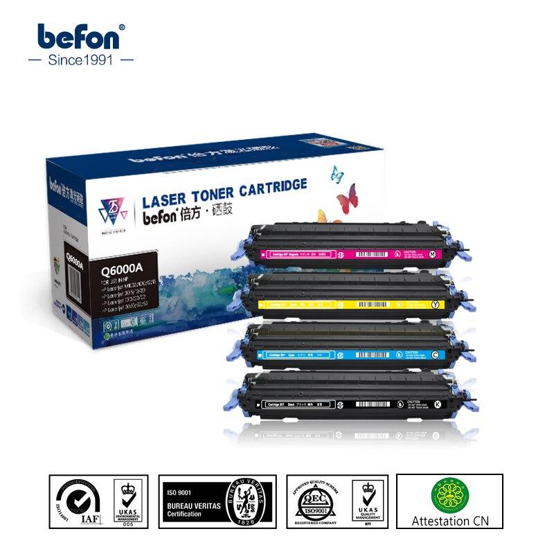 befon Color Toner Cartridge Compatible Q6000A 6000 6000a Compatible for HP Color Laserjet 1600 2600n 2605