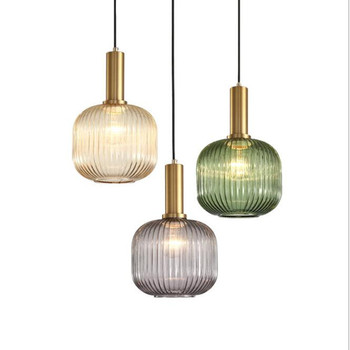 Postmodern Loft Concise Electroplated Glass Pendant Light Art Glass Living Room Bar Kitchen Suspension Lighting Fixtures