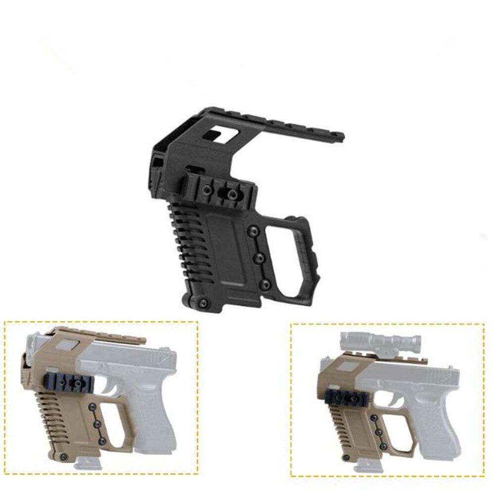 Tactical Pistol Carbine Kit Tactical Quick Reload Rail Base Loading Device For Glock G17 G18 G19  Holster