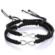 Couple 8 Infinity Bracelet Adjustable Rope Braided Wrap Bracelets Personal Women Men Lovers Sisters Jewelry  sonsuzluk bileklik