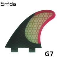 srfda surf fin hotsales for FCS box fin size G7 surf fins with fiberglass honeycomb for surfing (Tri set) surfboard fin