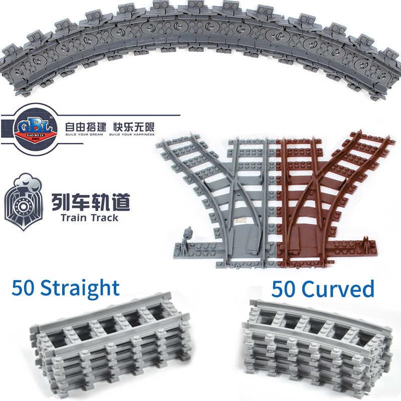 Série de la ville Compatible legoed voie ferrée ensembles kits maersk blocs de construction enfants jouets Locomotive rails briques lot