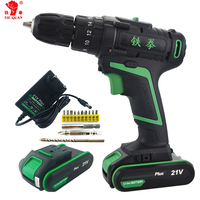 21V New Style Electric Power Battery Drill Home Diy Power Impact Drill Electric Screwdriver Hand Drill Cordless Tools Rotary Bit