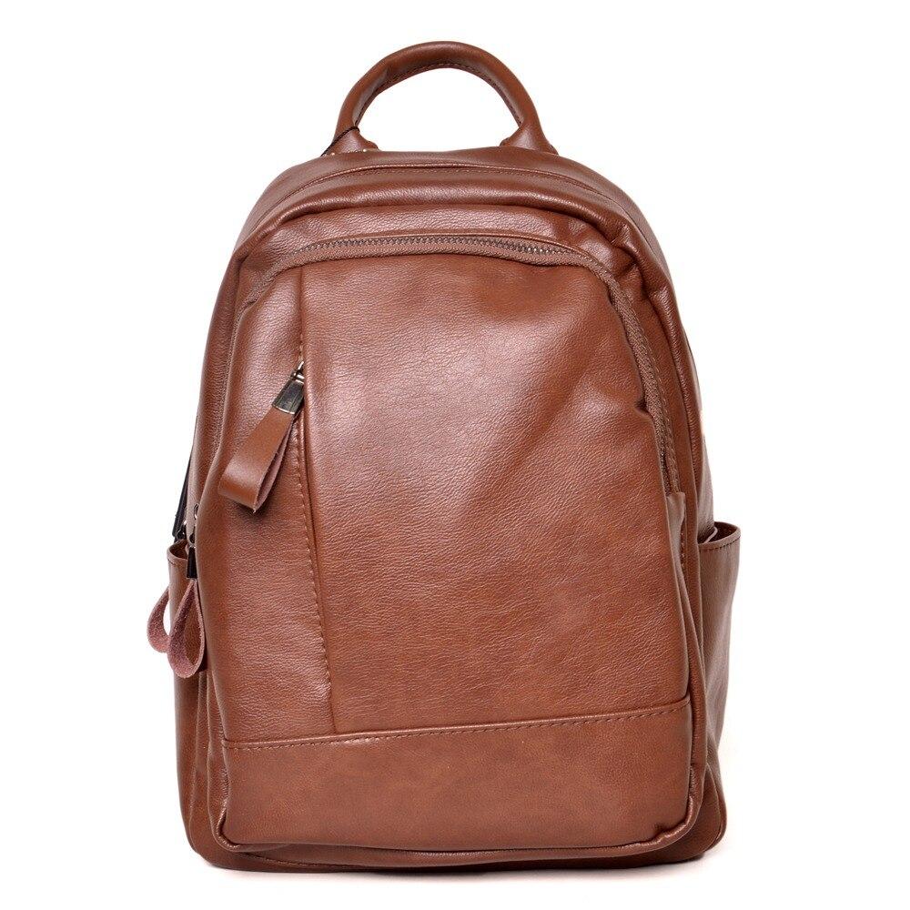 Women Leather Backpacks Vintage Female Shoulder Bag Travel Ladies Bagpack School Bags For Girls Wife Women Back Pack