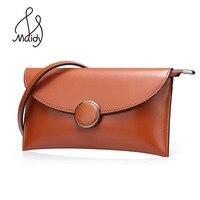 Maidy Real Cowhide Genuine Leather Natural Women Lady Envelope Clutch Bag Handbags Bags Shoulder Messenger Wallet