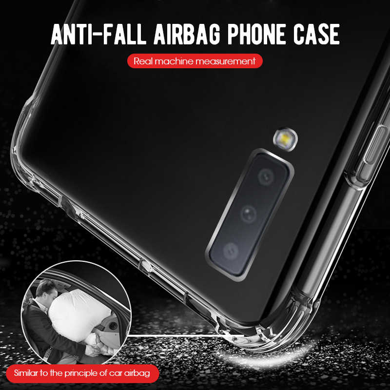 Transparent Cover Case For Samsung Galaxy J4 J6 Plus A6 A8 A9 A7 A750 2018 A6S J3 J5 J7 2017 S8 S9 Plus Note 8 Clear Cover Shell
