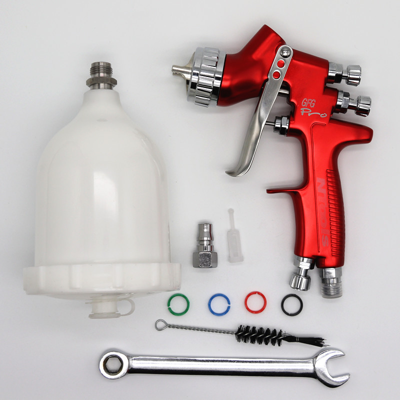 Image 5 - free shipping spray gun LVMP High quality England spray gun /paint spray gun /sprayer gun/air tools/for car face paint-in Spray Guns from Tools on