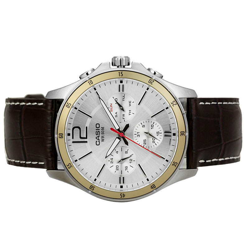 Image 3 - Casio Watch Pointer Series Multi function Chronograph Men's Watch MTP 1374L 7A-in Quartz Watches from Watches