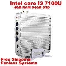 Мини-ПК Intel 7e Gen Кабы Lac Windows 10 i3 7100U 4 ГБ RAM 64 ГБ SSD 4 К HD Graphics 620 300 М Wi-Fi HDMI TV Box Бесплатная Доставка usb