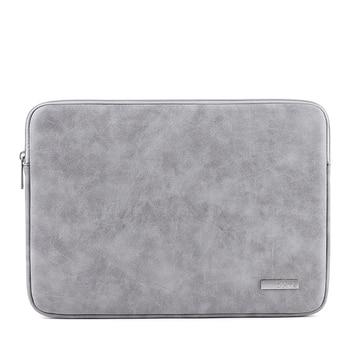 Funda de cuero para ordenador portátil PU impermeable 2019 para Macbook Pro Air 13 14 15 pulgadas funda para ordenador portátil para Dell HP