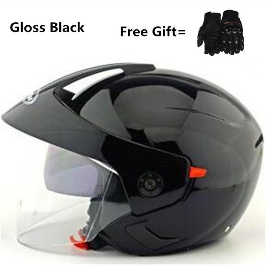 HOT SELL 3 4 helmet motorcycle helmet half helmet open face helmet casque motocross SIZE S
