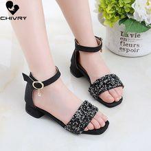 New 2019 Summer Sandals for Girls Sandals Glitter Rhinestone Princess G