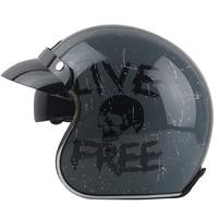 TORC casco capacete vintage helmets T57 moto cafe racer motorcycle scooter 3/4 retro open face helmet M L XL with sunney visor