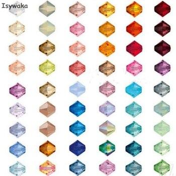 Isywaka U Choice 100pcs 4mm Bicone Austria Crystal Beads Jewelry Making