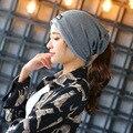 Осень Зима Новое Прибытие 7 Цвета женские Шапки Регулируемый Размер Девушки Skullies Зимние Шапки Для Женщин Осень Толстая Hat