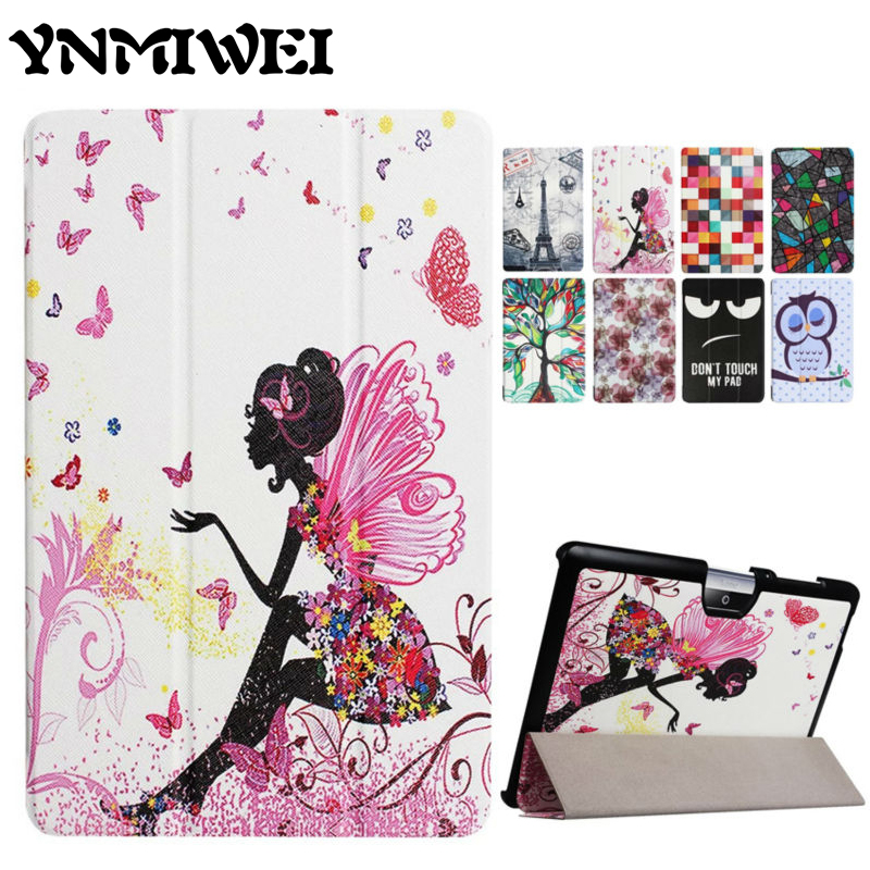 Iconia One 10 B3-A30 PU Leather Case Cover Slim Colorful Print Protective stand Tablet Case For Acer Iconia Tab 10 A3-A40 A3 A40 candy colors plastic pu leather full body case stand design for acer iconia a3 a20