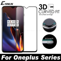 Full Cover 3D Edge Curved Fit Tempered Glass For One Plus OnePlus 6T 6 5T 5 3 3T A6010 A6000 A5010 A5000 Screen Protector Film