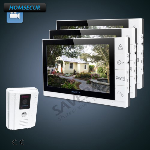 HOMSECUR 9 Video Door Entry Phone Call System+White Camera for Apartment+Ultra-large Screen 1C3MHOMSECUR 9 Video Door Entry Phone Call System+White Camera for Apartment+Ultra-large Screen 1C3M