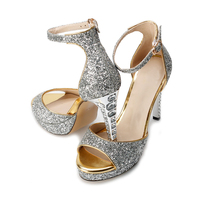 SARAIRIS NEW Ins plus size 34 sexy high heels women's Shoes party ankle strap sandals woman summer bling crystals stiletto