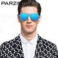 Parzin Óculos Polarizados Óculos De Sol Dos Homens Óculos de Sol Masculinos de Grandes Dimensões Para A Condução Shades Oculos de sol Masculino Com Caixa 8009