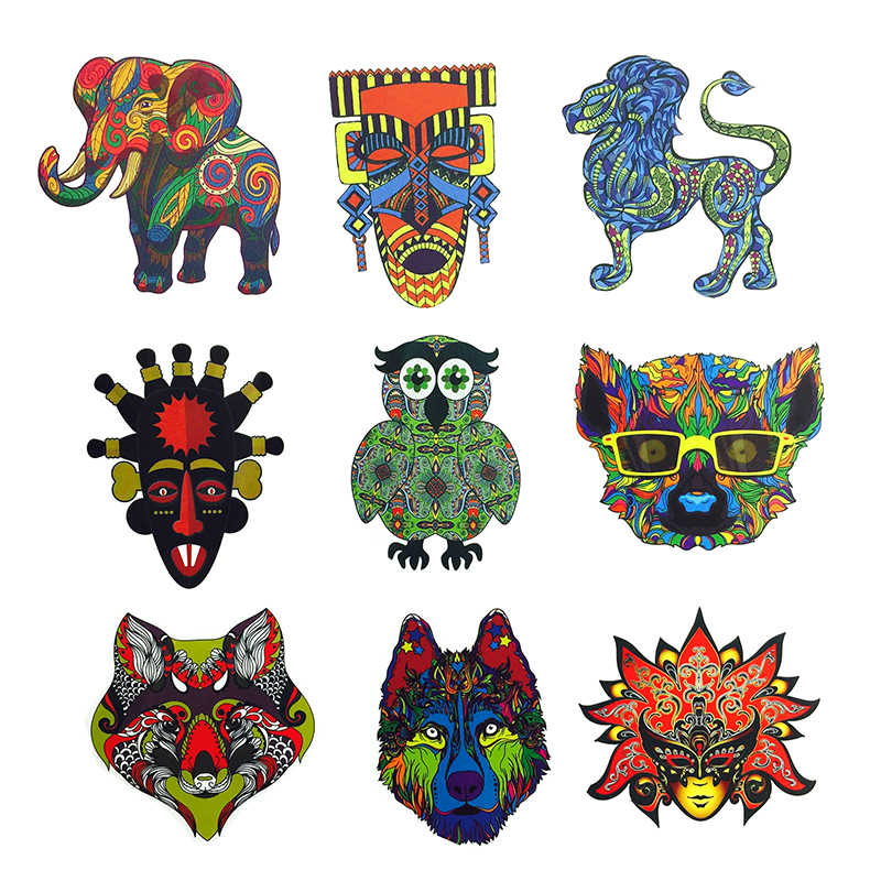 Detail Feedback Questions About 50 Pcs Ethnic Totem Sticker Animal