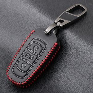 Image 3 - حافظة مفاتيح السيارة من الجلد الأصلي لهواتف جيلي أطلس بويو NL3 EX7 Emgrand X7 EmgrarandX7 SUV GT GC9 borui حافظة مفاتيح السيارة عن بعد
